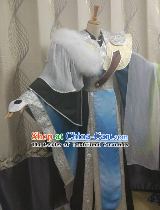 Ancient Chinese Costume hanfu Chinese Wedding Dress traditional china Cosplay Swordsman Wig Clothing Headwear