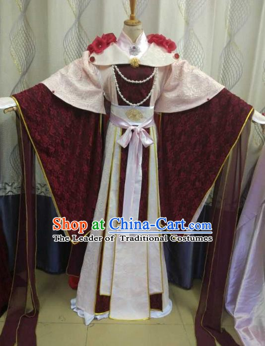 China Ancient Cosplay Han Dynasty Princess Costume Fairy Fancy Dress Traditional Hanfu Clothing for Women