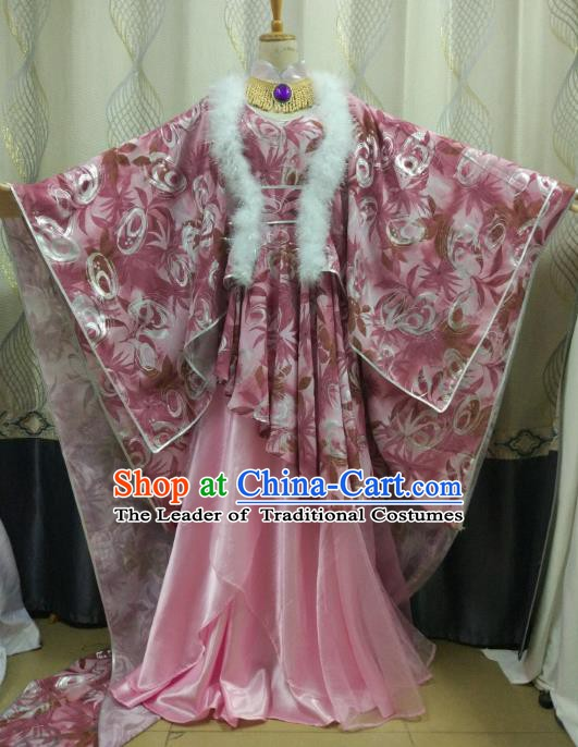 China Ancient Cosplay Tang Dynasty Princess Costume Fairy Fancy Dress Traditional Hanfu Clothing for Women