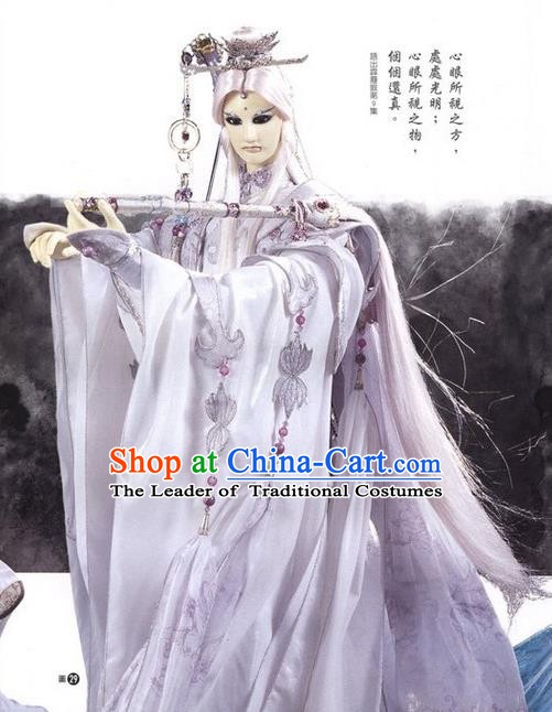 Traditional China Ancient Cosplay Royal Highness Embroidered Costume Swordsman Clothing for Men