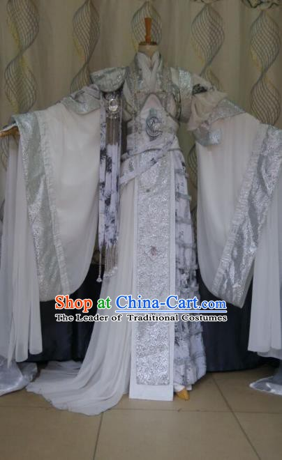 China Ancient Cosplay Halloween Palace Lady Costume Traditional Queen Hanfu Dress for Women