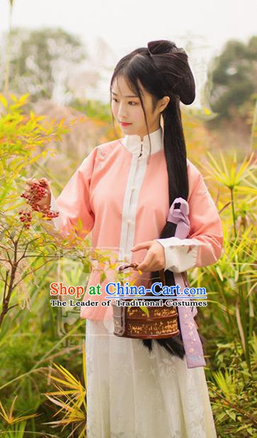 China Traditional Ming Dynasty Young Lady Costume Ancient Princess Embroidered Dress for Women