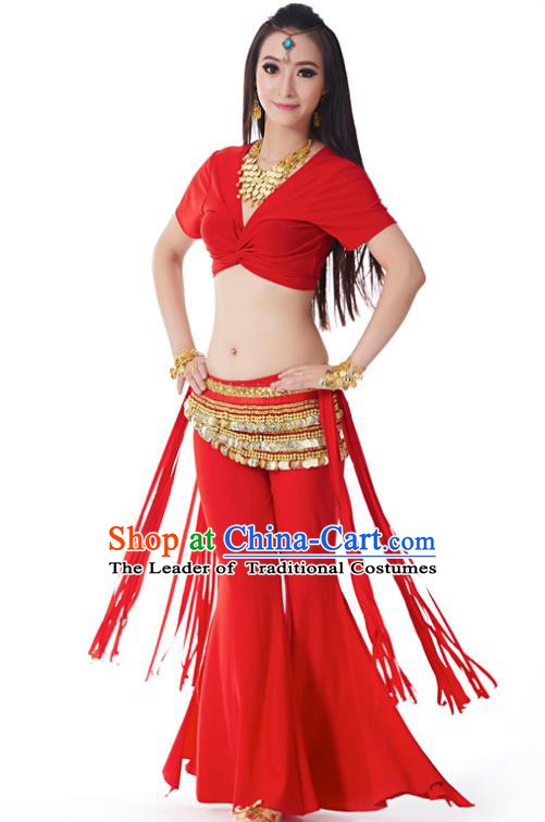 Indian Belly Dance Costume India Raks Sharki Red Uniform Oriental Dance Clothing for Women