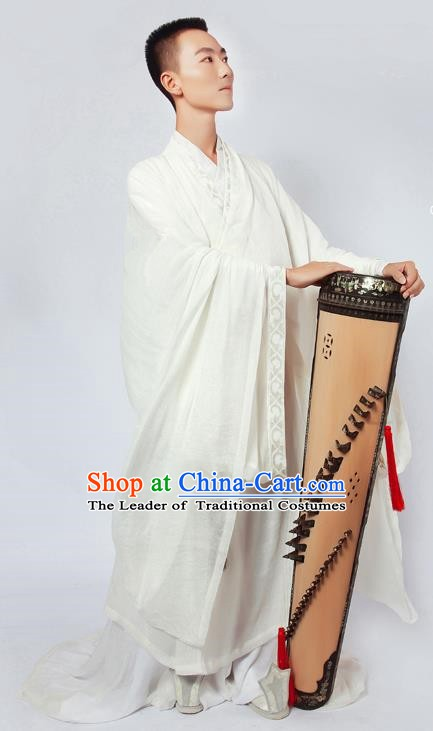 China Ancient Zhou Dynasty Confucian Scholar Hanfu Clothing for Men