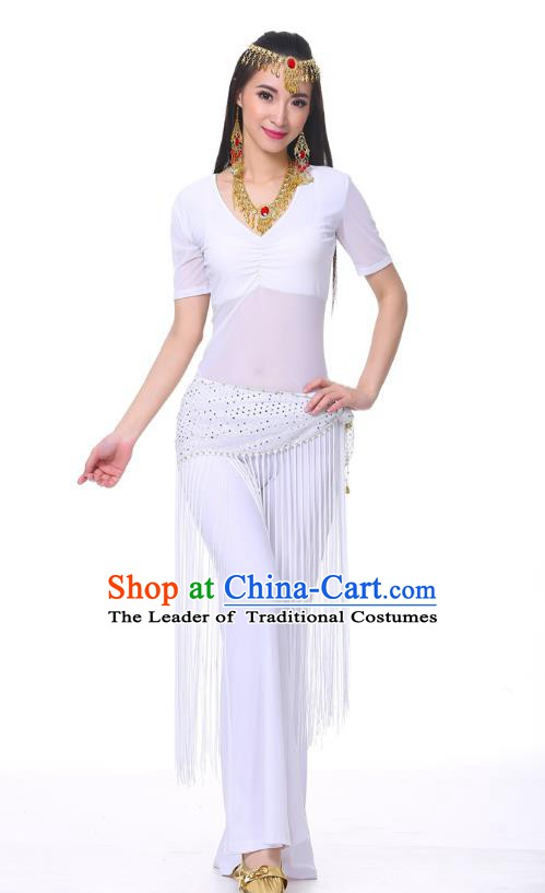 Indian Belly Dance Costume India Raks Sharki White Suits Oriental Dance Clothing for Women