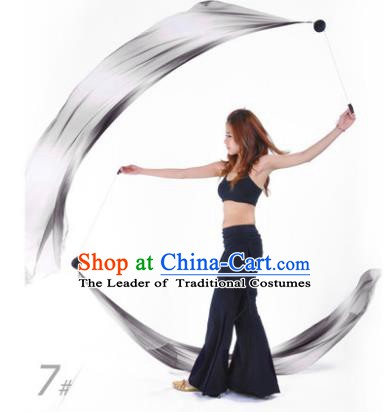 Indian Belly Dance Props India Raks Sharki Accessories Gradient Black Ribbons for Women