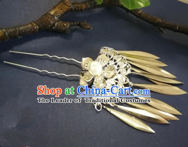 Chinese Handmade Classical Hair Accessories Ancient Palace Lady Tassel Hairpins for Women