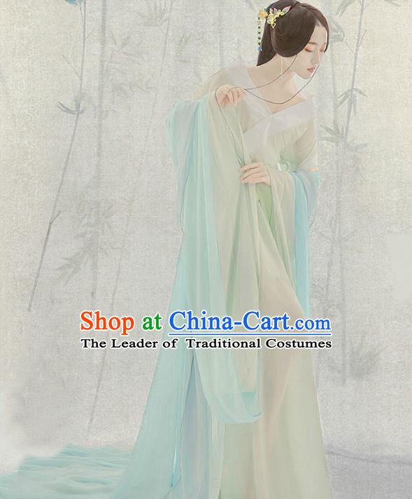 Traditional Chinese Ancient Palace Lady Costume, China Tang Dynasty Princess Clothing for Women