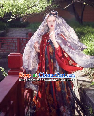 China Ancient Tang Dynasty Palace Lady Costume Traditional Chinese Princess Clothing for Women