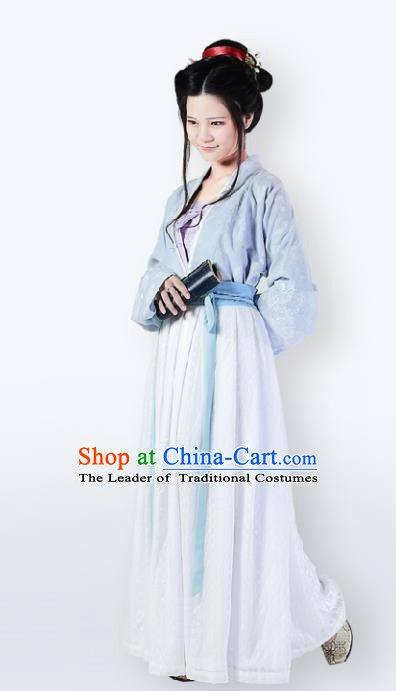 Traditional Chinese Ancient Costume Song Dynasty Young Lady Dress Clothing for Women