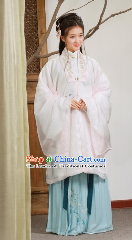 Traditional Chinese Ancient Princess Ming Dynasty Palace Lady Dress Embroidered Clothing for Women