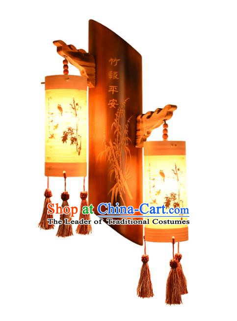 Traditional Chinese Carving Bamboo Lanterns Handmade Lantern Ancient Wall Lamp