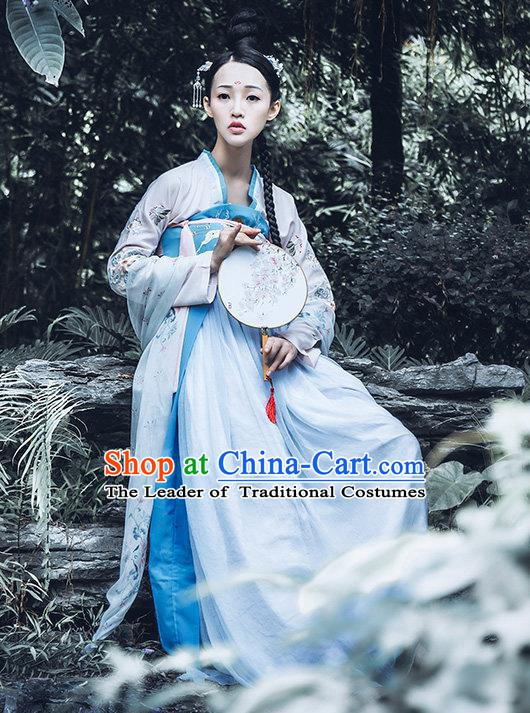 China Ancient Imperial Concubine Costume Tang Dynasty Palace Lady Embroidered Dress for Women