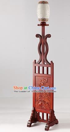 China Handmade Lanterns Ceramics Floor Lantern Ancient Wood Lanterns Traditional Lamp