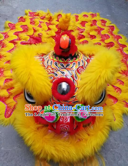 Chinese Professional Lion Dance Celebration and Parade Red Lion Head Costumes Complete Set