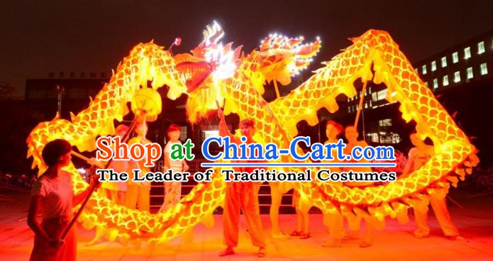 Chinese Traditional Dragon Dance Costumes Professional Lantern Festival Celebration Dragon Parade Complete Set
