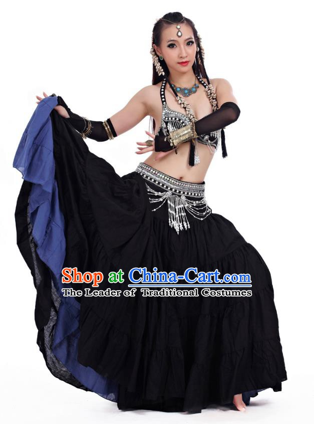 Indian Primitive Tribe Belly Dance Costume India Oriental Dance Clothing for Women
