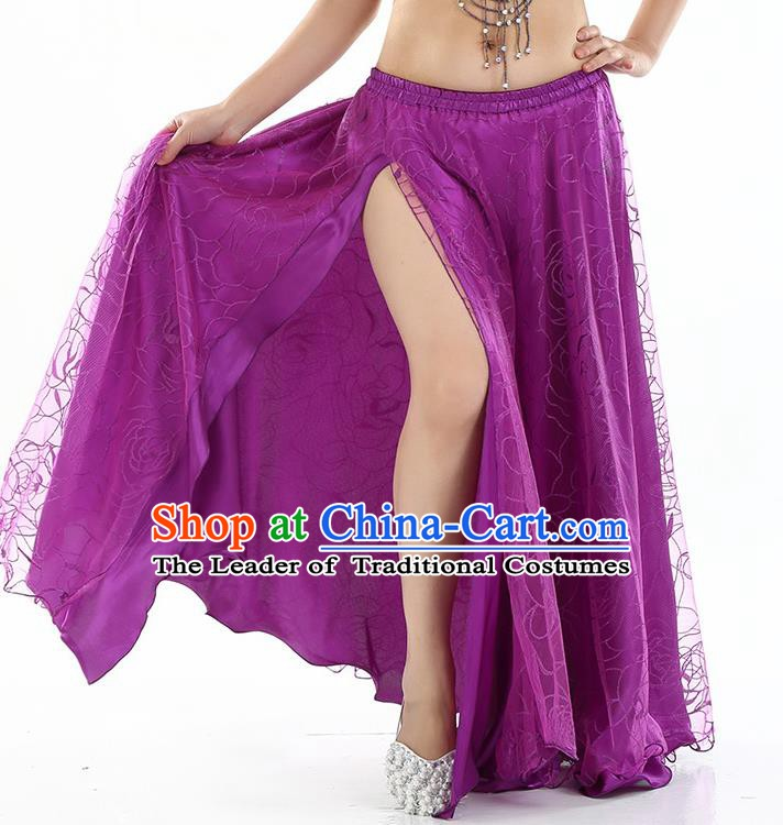 Asian Indian Belly Dance Costume Purple Rose Skirt Stage Performance Oriental Dance Dress for Women