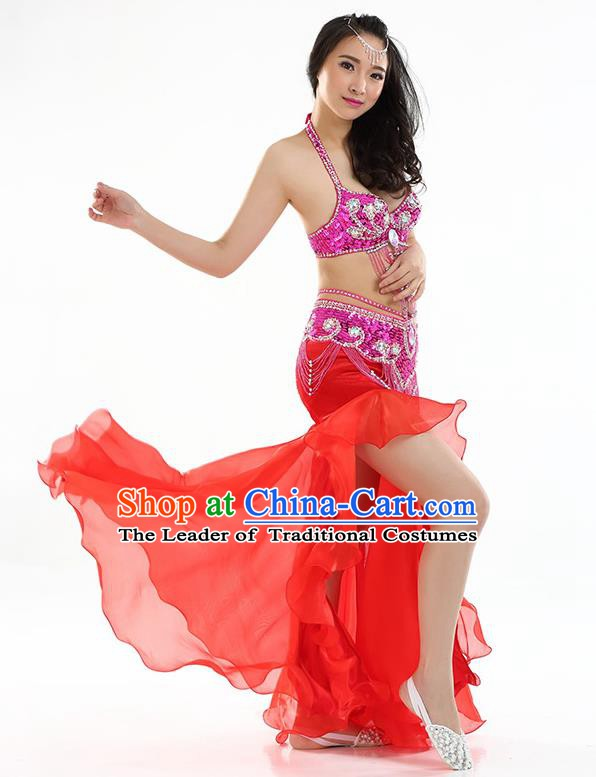 Top Indian Belly Dance India Traditional Raks Sharki Red Dress Oriental Dance Costume for Women