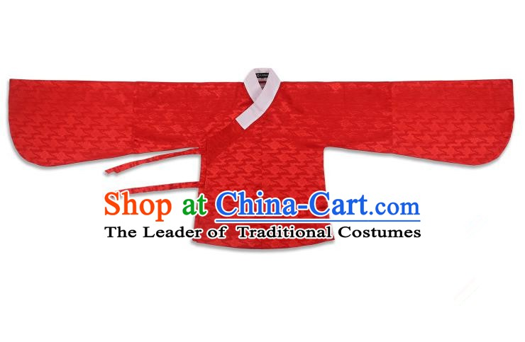 Chinese Ancient Ming Dynasty Costume Palace Lady Red Blouse Hanfu Clothing for Women