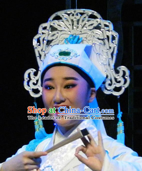 Traditional Chinese Beijing Opera Scholar Young Men Hats Peking Opera Niche Headwear