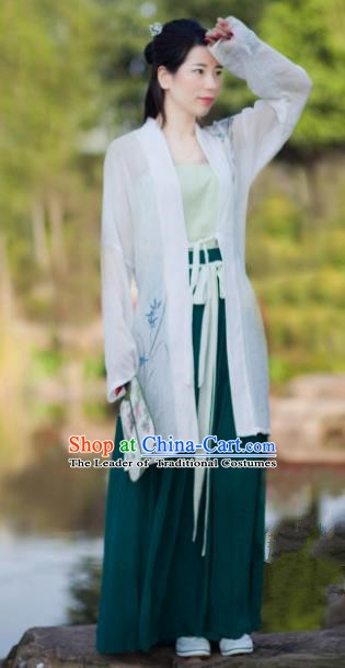 Traditional Chinese Song Dynasty Young Lady Costumes Ancient Dress Clothing for Women