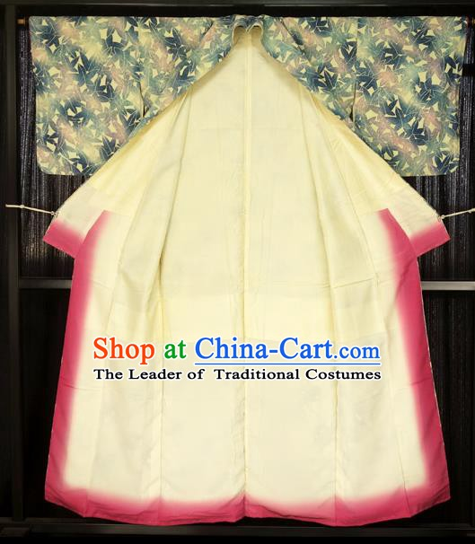 Japan Traditional Palace Printing Kimono Furisode Kimonos Yukata Dress Formal Costume for Women
