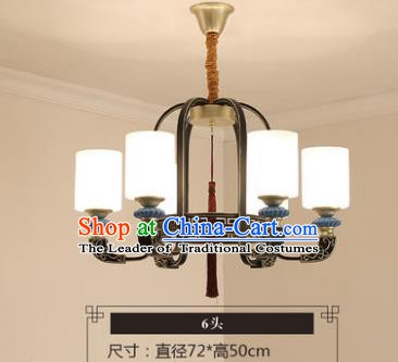 Asian China Traditional Handmade Lantern Iron Ceiling Lamp Ancient Palace Lanern