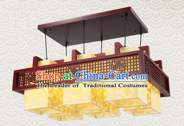 China Traditional Handmade Lantern Ancient Lanterns Palace Six-pieces Ceiling Lamp
