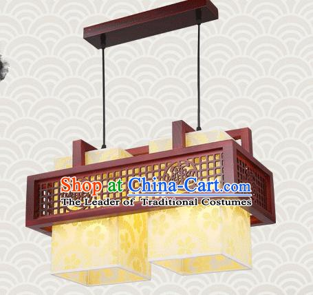 China Traditional Handmade Lantern Ancient Lanterns Palace Two-pieces Ceiling Lamp