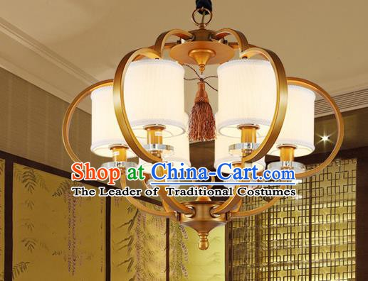 Traditional China Handmade Brass Lantern Ancient Lanterns Palace Ceiling Lamp