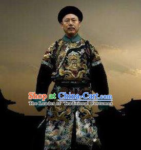 Chinese Qing Dynasty Historical Costume China Ancient Manchu Prince Gong Yixin Clothing