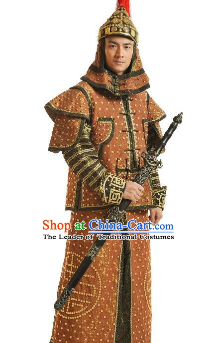 Chinese Qing Dynasty Fourteen Prince of Kangxi Yinzhen Historical Costume Ancient Manchu Royal Highness Clothing for Men