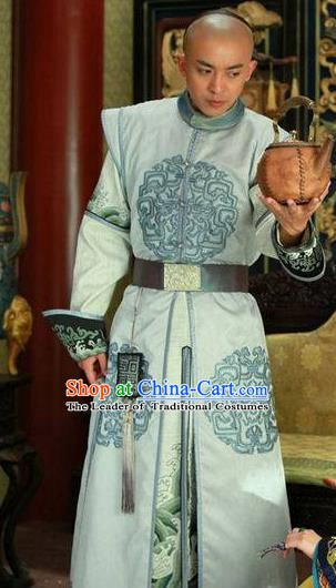 Chinese Qing Dynasty Prince of Qianlong Historical Costume Ancient Nobility Childe Clothing for Men