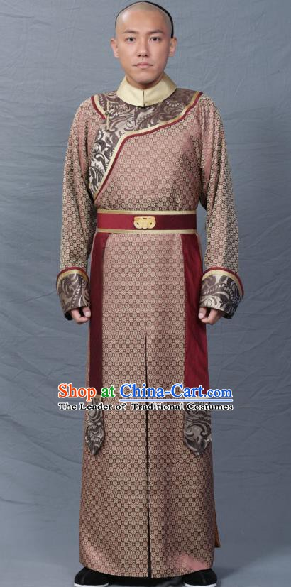 Chinese Qing Dynasty Prince Replica Costumes Ancient Manchu Historical Costume for Men