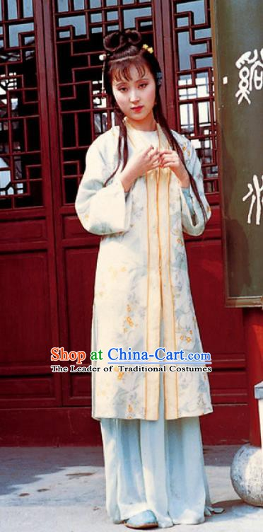 Chinese Ancient Qing Dynasty A Dream in Red Mansions Lin Daiyu Dress Replica Costumes for Women