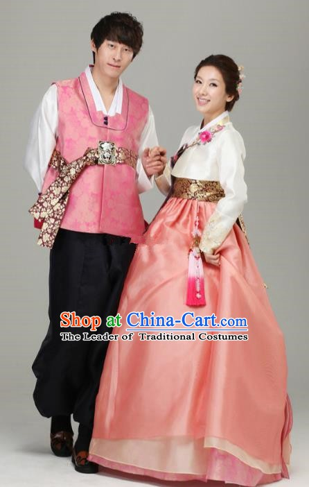 Korean Traditional Garment Palace Hanbok Fashion Apparel Bride and Bridegroom Costumes