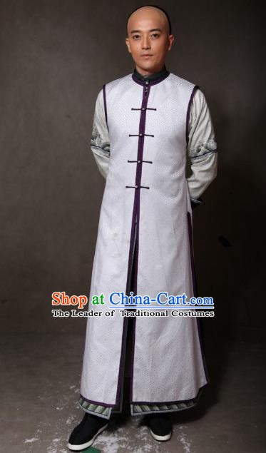 Chinese Ancient Qing Dynasty Manchu Nobility Childe Clothing Prince of Qianlong Embroidered Costume for Men