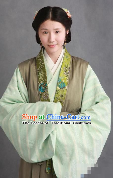 Chinese Ancient Novel Character A Dream in Red Mansions Maidservants Zijuan Costume for Women