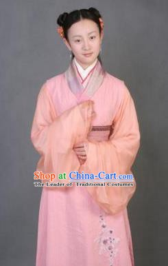 Chinese Ancient Novel Character A Dream in Red Mansions Maidservants Xiangling Costume for Women