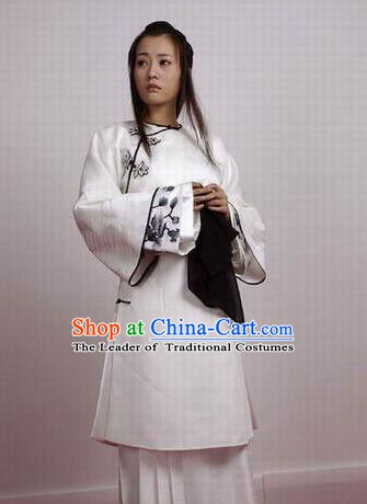 Chinese Ancient Qing Dynasty Manchu Dress Imperial Consort of Shunzhi Kong Sizhen Costume for Women