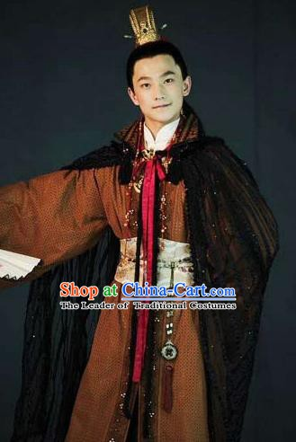 Chinese Ancient A Dream in Red Mansions Character Nobility Childe Jia Baoyu Costume for Men