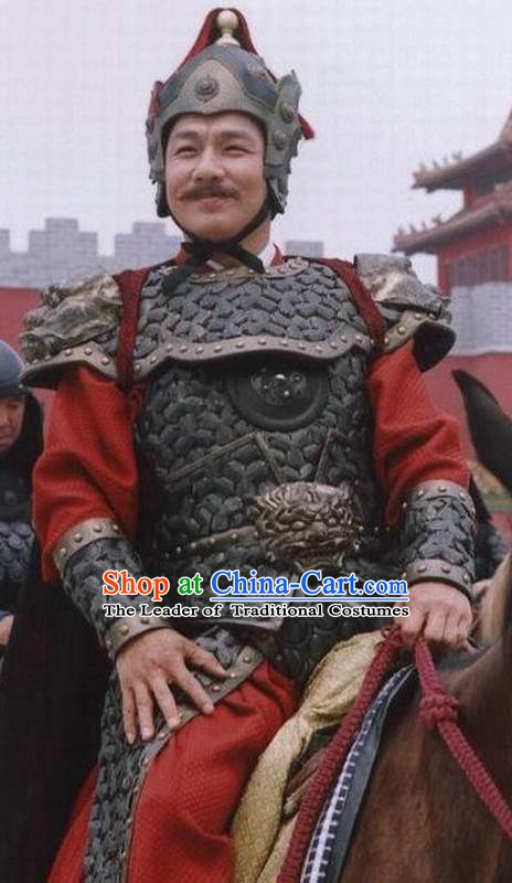 Chinese Ancient Ming Dynasty Prince Anhua General Zhu Zhifan Armour Clothing for Men