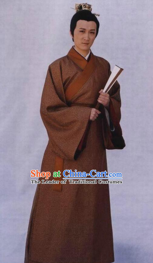 Chinese Ancient Emperor Costume Ming Dynasty Zhengde Emperor Zhu Houzhao Imperial Robe for Men