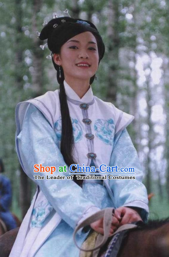 Chinese Ancient Queen Costume Ming Dynasty Empress Zhang Embroidered White Dress for Women