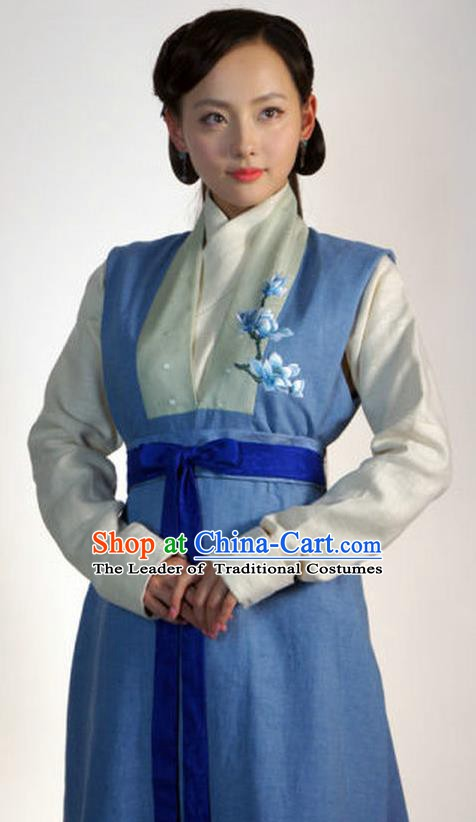 Ancient Chinese Ming Dynasty Nobility Lady Embroidered Replica Costume for Women