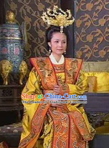 Ancient Chinese Ming Dynasty Founding Empress Ma of Zhu Yuanzhang Embroidered Replica Costume for Women