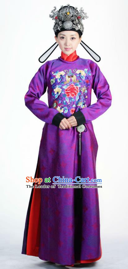 Ancient Chinese Ming Dynasty Historical Costume Female Officials Embroider Replica Costume for Women
