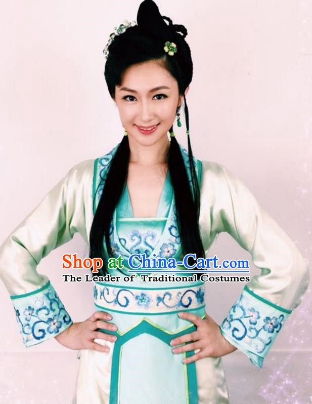 Ancient Chinese Ming Dynasty Young Lady Embroidered Dress Replica Costume for Women