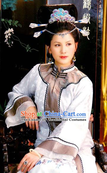 Chinese Ancient Novel A Dream in Red Mansions Character Young Mistress Xifeng Wang Costume for Women